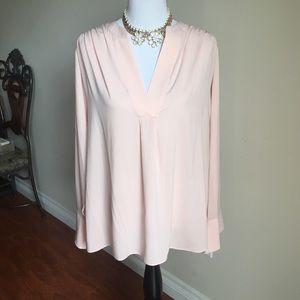 Calvin Klein. Light pink V neck Blouse